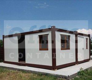 Casa din trei containere cu dimensiunea de 6 x 3 m3
